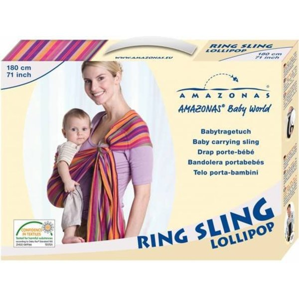 Amazonas Amazonas Buik-/rugdrager - Ring Sling Lollipop 180 cm