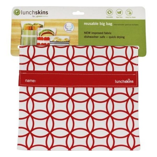 Lunchskins Lunchskins Red Mosaic Big Bag