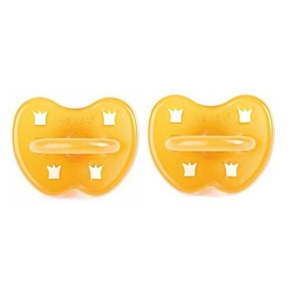 hevea Hevea Natuurrubber Fopspeen 0-3 maanden Dental- of Kersvorm (2 stuks)
