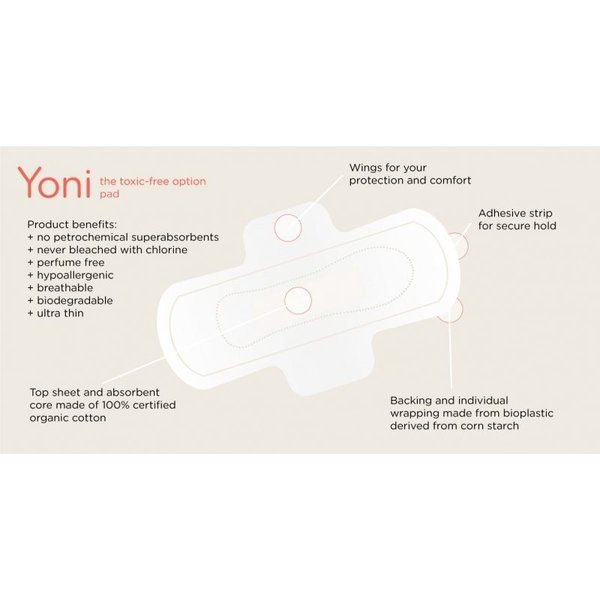 Yoni Yoni Toxic Free Maandverband Medium (3-pack)