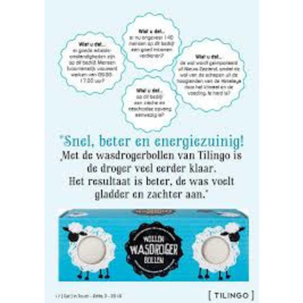 Tilingo  Tilingo Wasdroger Bollen van wol