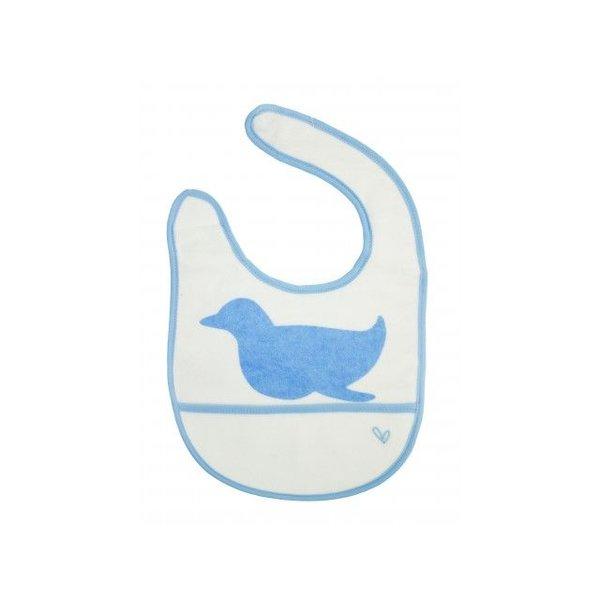 JJ Rabbit JJ Rabbit DryBIB slabbetje pinguïn blauw