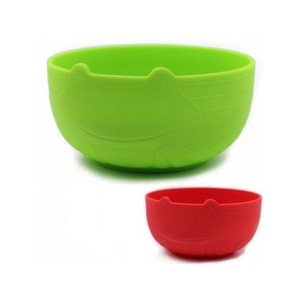 JJ Rabbit Kommetjes voor peuters set van 2 in groen + rood