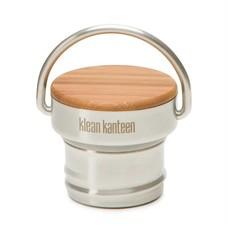 Klean Kanteen- rvsdrinkfles/ waterfles Bamboe dop