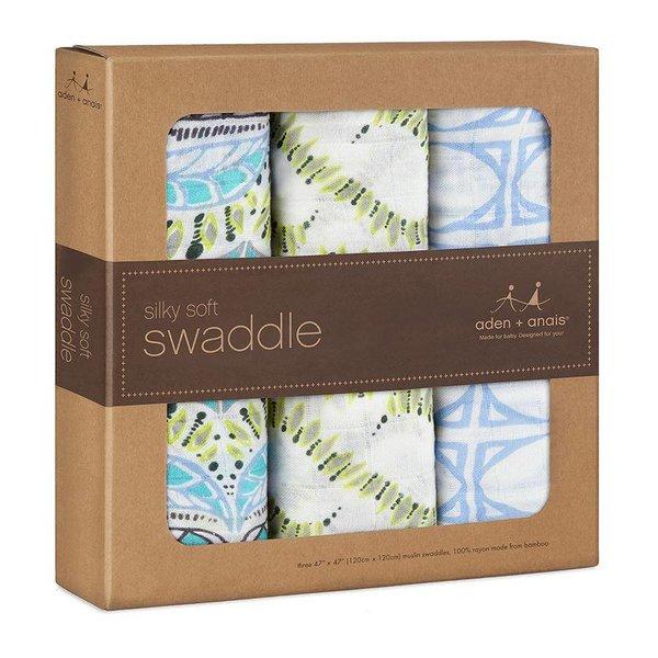 Aden en Anais Aden + Anais Bamboe Inbakerdoek 3-pack wild one