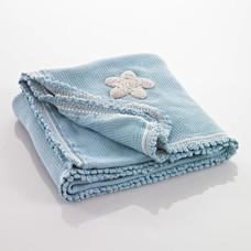 Pebble Organic deken - blauw met sterren