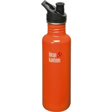 Klean Kanteen - rvs drinkfles / waterfles Classic Sport 800 ml oranje