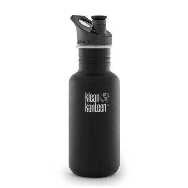 Klean Kanteen- rvsdrinkfles/ waterfles Klean Kanteen Classic Sport 532 ml zwart