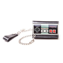 Bioworld NINTENDO - CONTROLLER TRIFOLD CHAIN WALLET