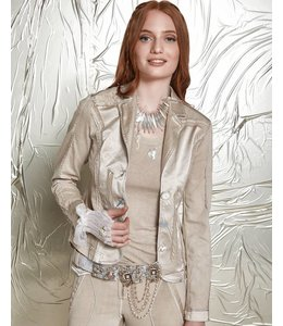 Elisa Cavaletti Veste courte en jean taupe