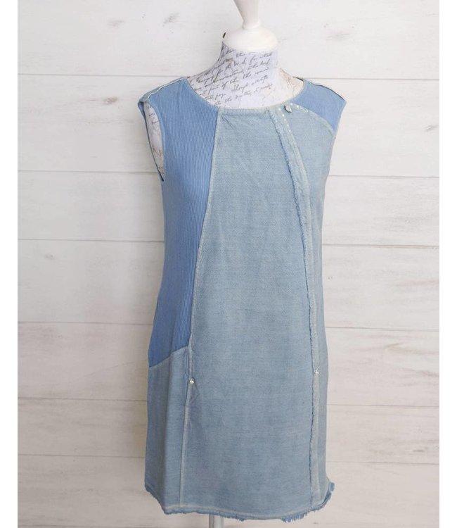 Elisa Cavaletti Aermelloses Kleid hellblau