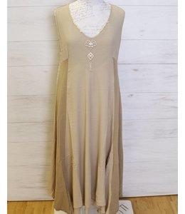 Elisa Cavaletti Long dress taupe