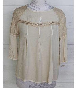 Elisa Cavaletti Blusen-Shirt beige