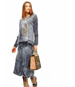 Elisa Cavaletti Long skirt blue