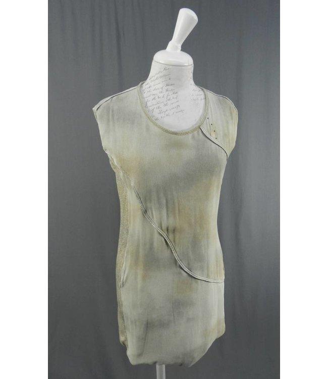 Elisa Cavaletti Aermelloses Kleid taupe-grau-braun
