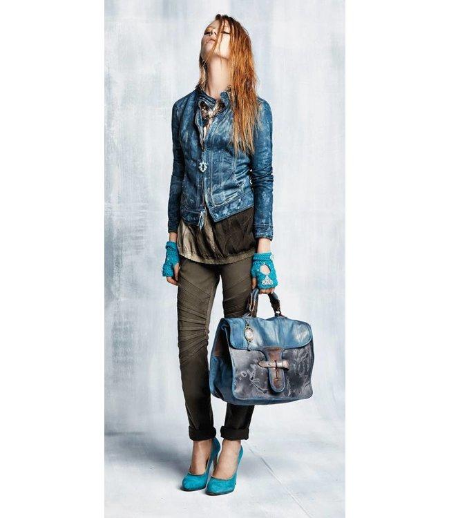 Elisa Cavaletti Jeans grün-braun verwaschen
