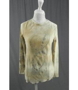 Elisa Cavaletti T-Shirt beige-grau marmoriert