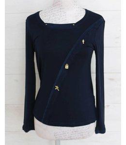 Elisa Cavaletti Basic-Shirt dark-blue