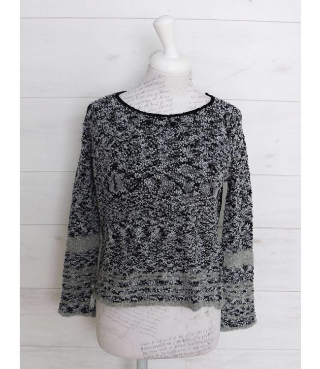 Elisa Cavaletti Short pullover silvery grey and black