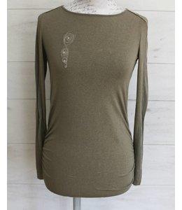 Elisa Cavaletti Longer basic shirt taupe-gold
