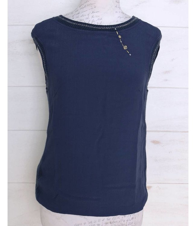 Elisa Cavaletti Basic top dark blue
