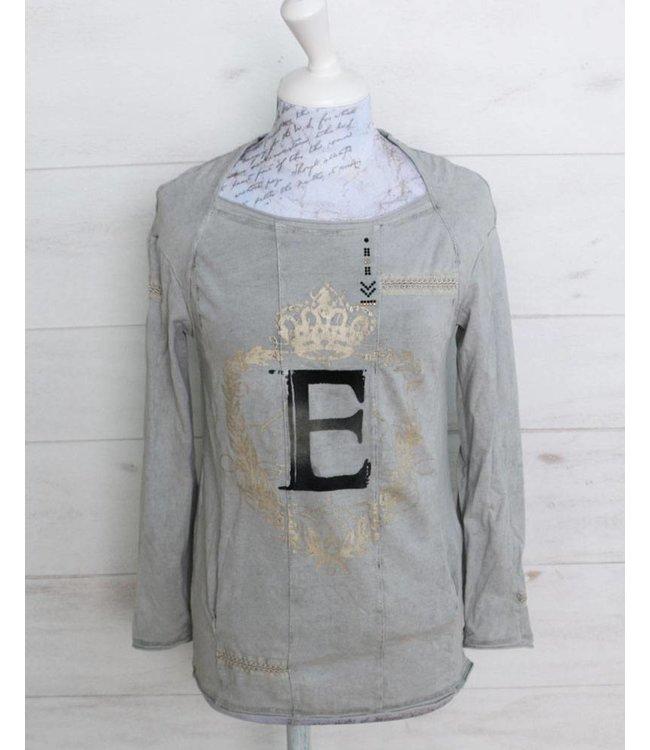 Elisa Cavaletti T-shirt faded silver grey