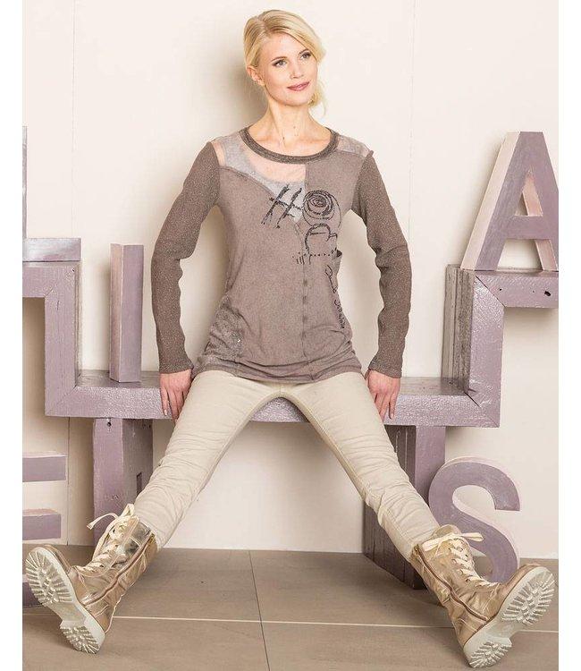 Elisa Cavaletti Long-sleeved top mauve