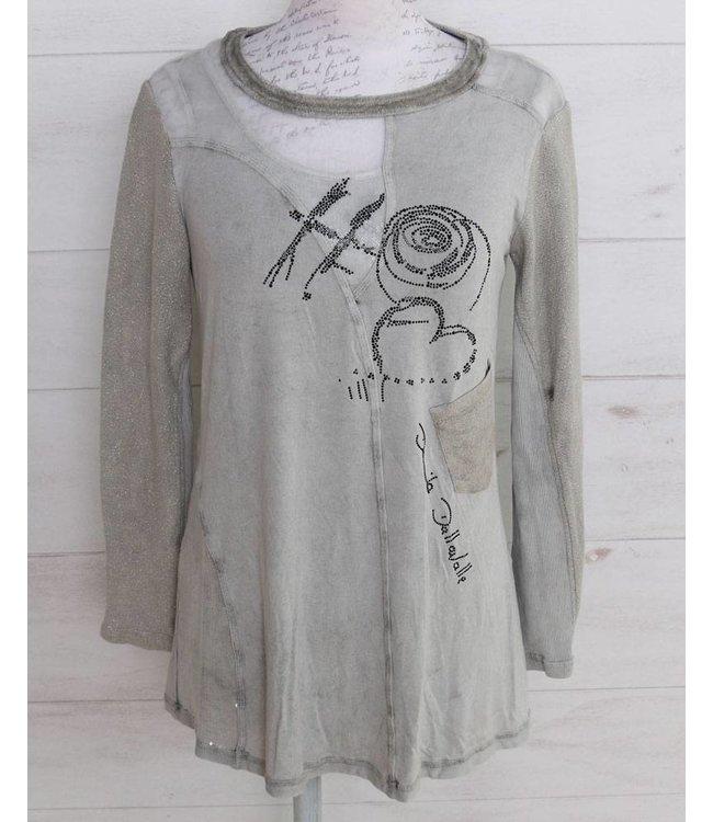 Elisa Cavaletti Shirt silbergrau