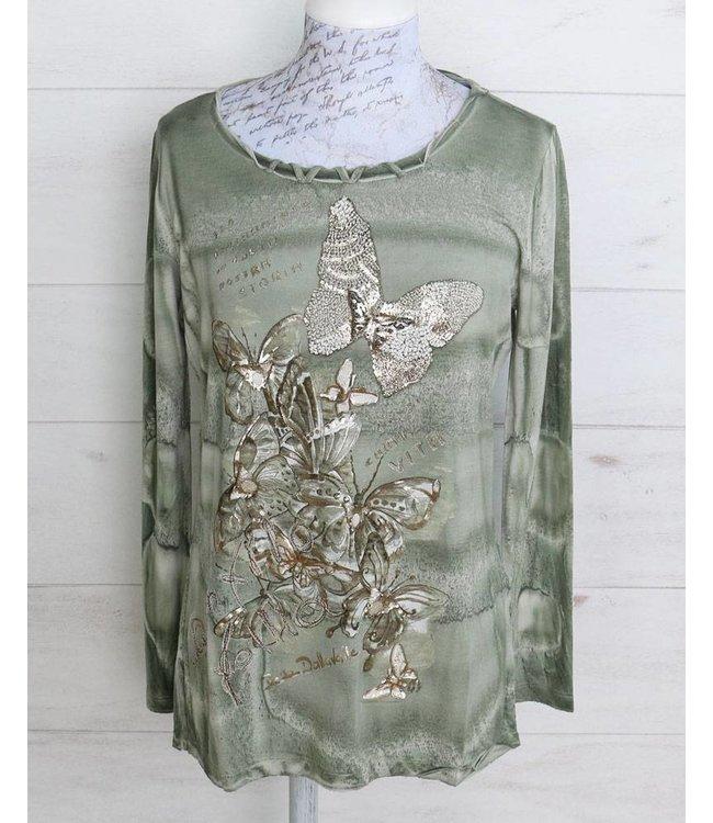 Elisa Cavaletti Long T-shirt pale green