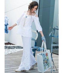 Elisa Cavaletti Linen trousers Bianco