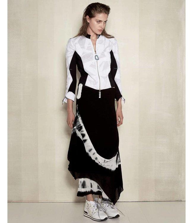 Elisa Cavaletti Long skirt black-white