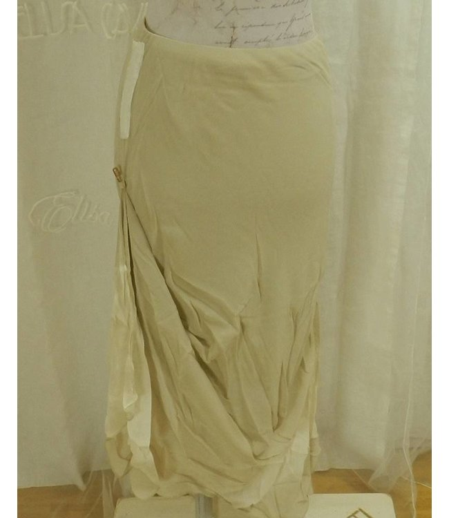 Elisa Cavaletti Long skirt beige-ecru