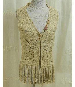 Elisa Cavaletti Knit-Gilet beige