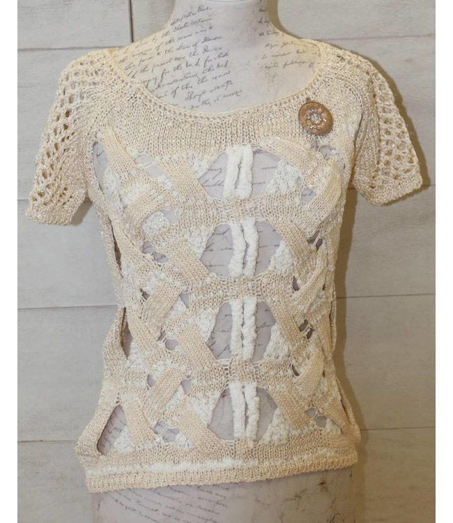 Elisa Cavaletti Sweater beige-white
