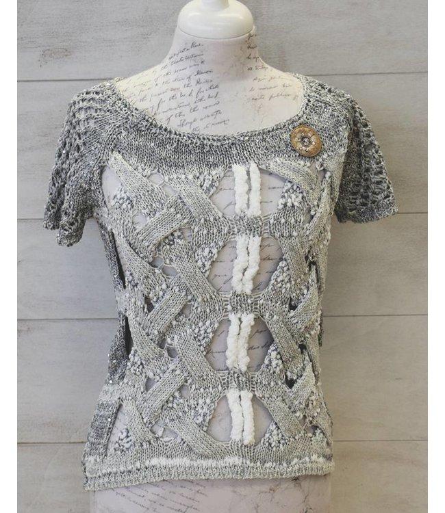 Elisa Cavaletti Sweater grey-white