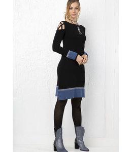 Elisa Cavaletti Jersey Dress Nero Sinfonia