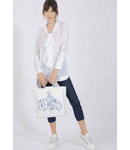 Elisa Cavaletti 7/8 Basic-Jeans Denim Blu