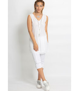 Elisa Cavaletti Long basic top Bianco