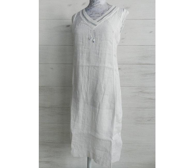 Robe En Lin Bianco Modepur