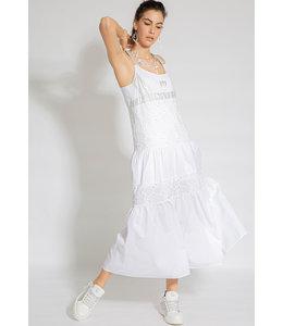 Elisa Cavaletti Langes Trägerkleid Bianco