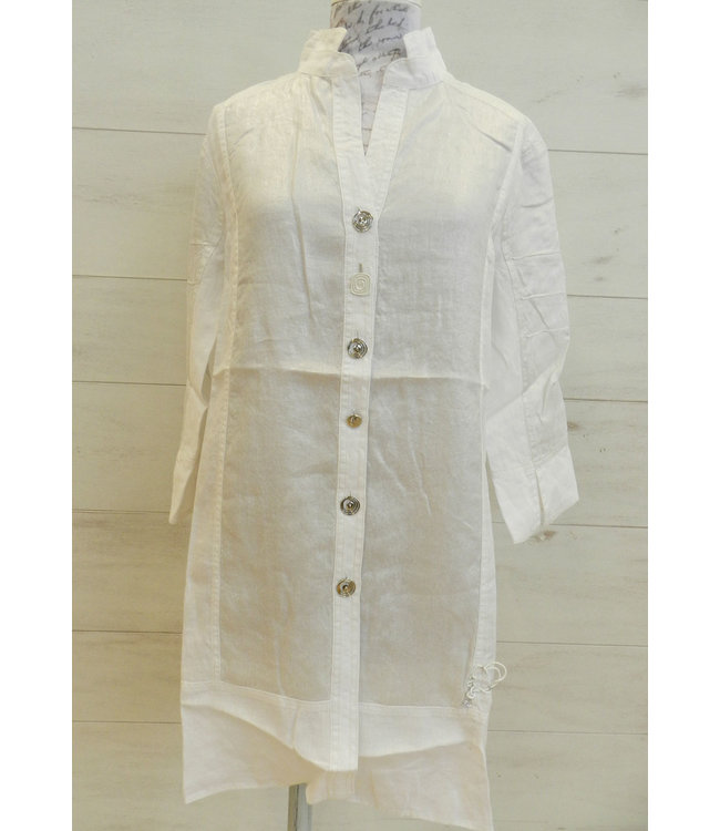 Elisa Cavaletti Linen blouse Bianco