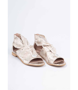 Elisa Cavaletti Leather sandals Champagne