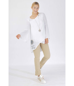 Elisa Cavaletti Blusen-Shirt Bianco