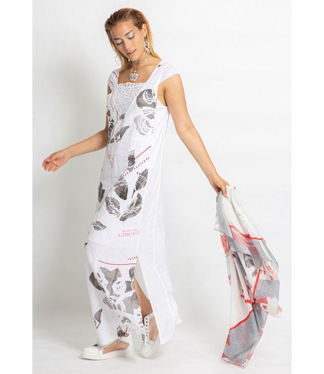 Elisa Cavaletti Long dress St. Naif Bianco