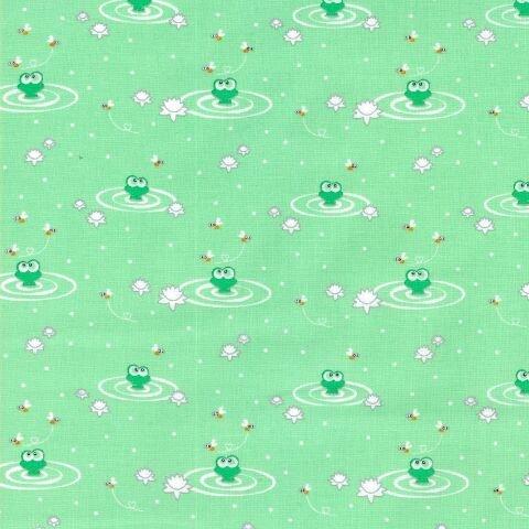 Ella Blue fabrics Ella Blue Pondlife Frogs green