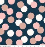Penny Rose blush Sparkle puffs blue