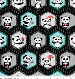 Riley Blake Panda Love main black