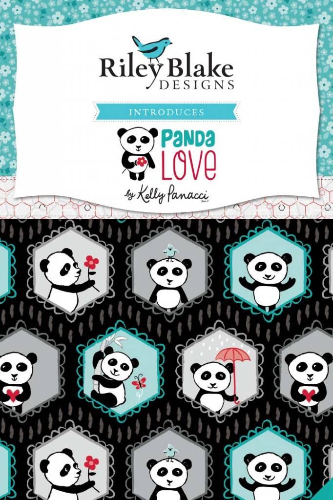 Riley Blake Panda Love Toss light gray