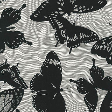 Robert Kaufman Black & White butterfly