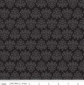 Riley Blake Tuxedo zwart met grijs